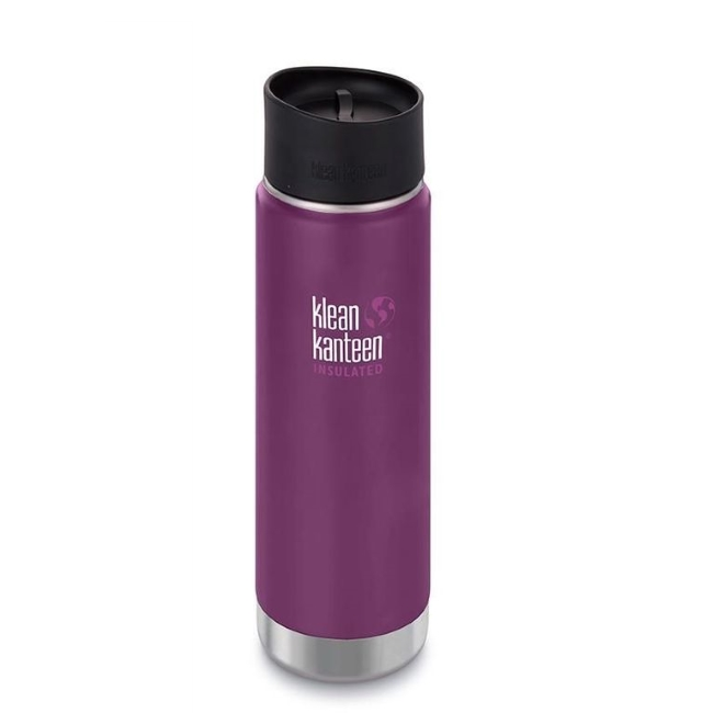 Термобутылка Klean Kanteen Insulated Wide Cafe Cap, Winter Plum, 592 мл